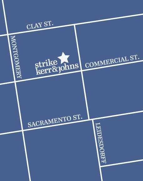 map to Strike Kerr & Johns